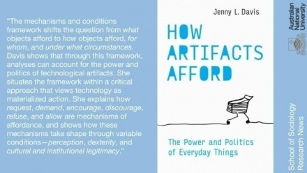 How Artifacts Afford - New book from ANU Sociologist