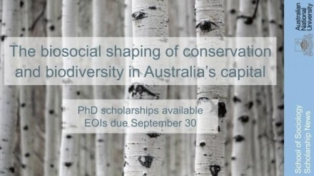 New PhD Scholarships in Conservation and Biodiversity